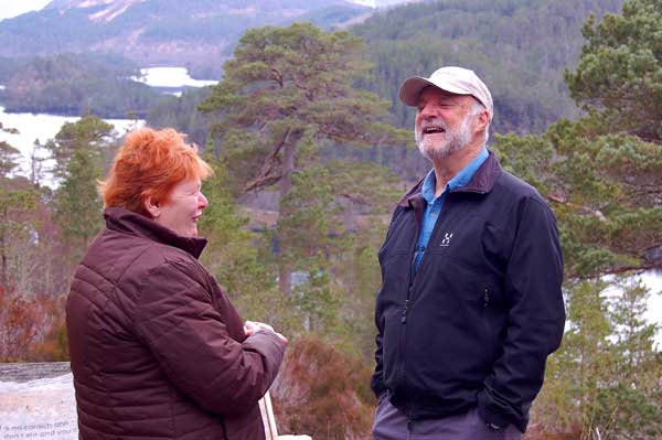 Cameron McNeish and Highland Councillor Margaret Davidson a long term supporter of the project