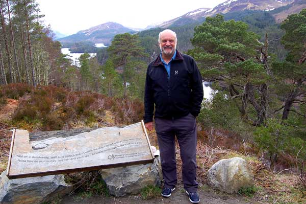 Cameron McNeish at viewpoint